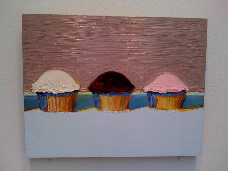 Wayne Thiebaud, Neapolitan Cupcakes