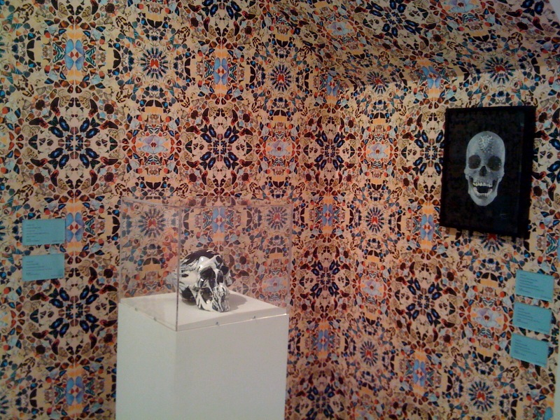 Hirst Diamond Skull and Wallpaper