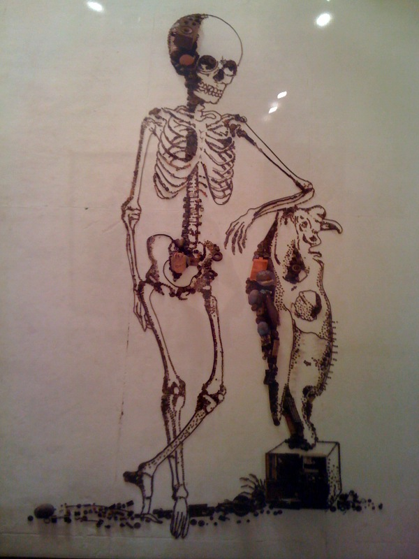 Leaning Skeleton (The Anatomy of Bones), after William Cheselden, 2009