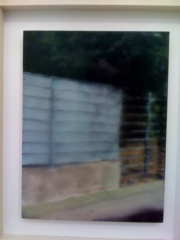 907-1 Fence, 2008, oil on aludibond