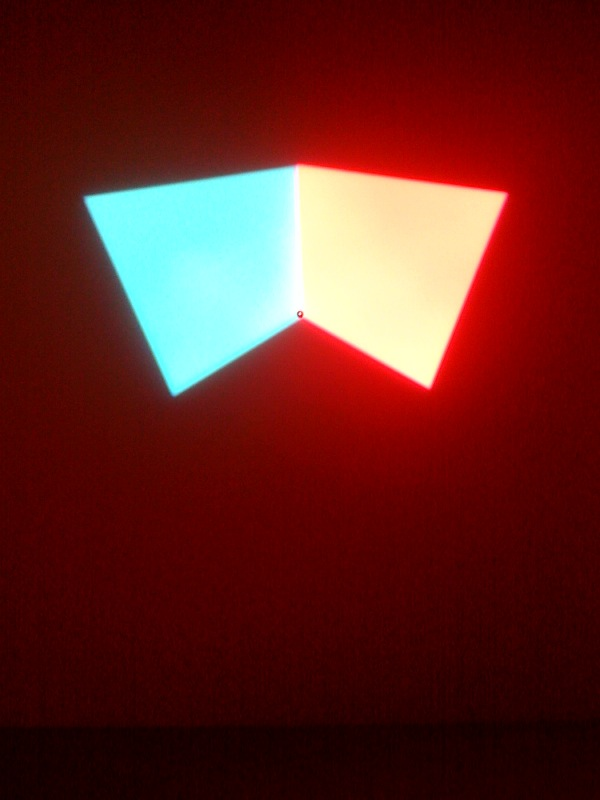 Intangible afterimage star, blue and orange,2008