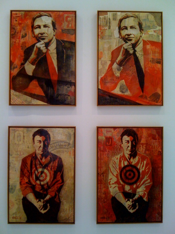 Rauschenberg and Johns closeup