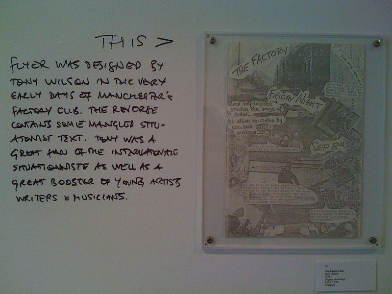 The Factory flier, Tony Wilson, original photocopy, 1978