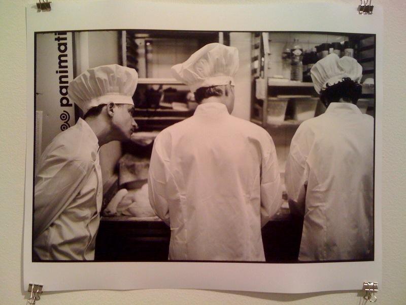 Adam observes Adam and Mike preparing baguettes