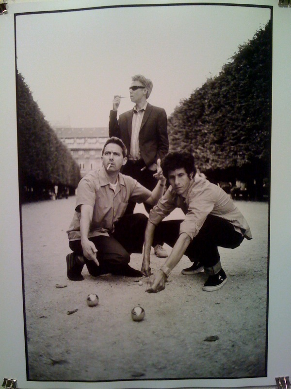 The Beasties playing petanque in the Palais Royale