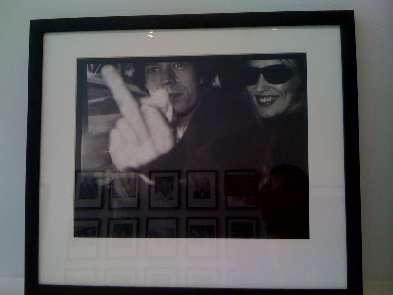 Mick flipping the bird