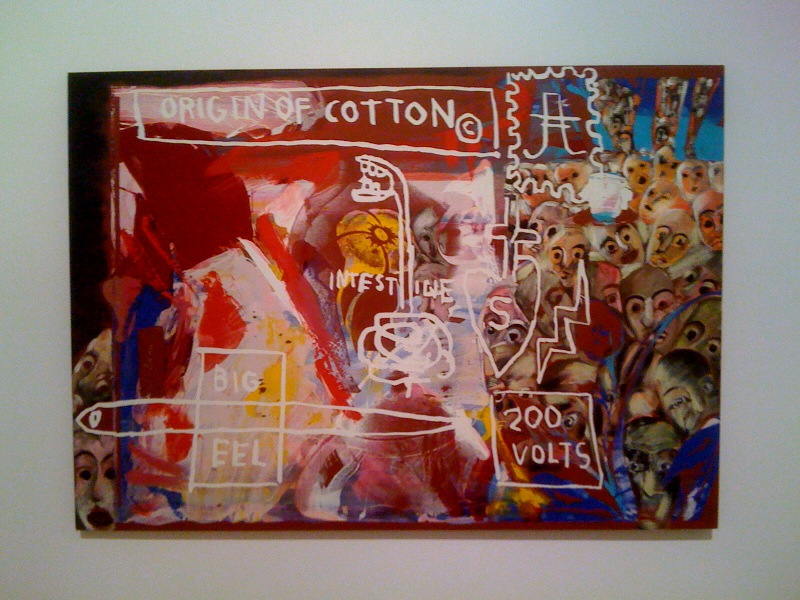 Warhol, Basquiat, Clemente, Origin of Cotton, 1984