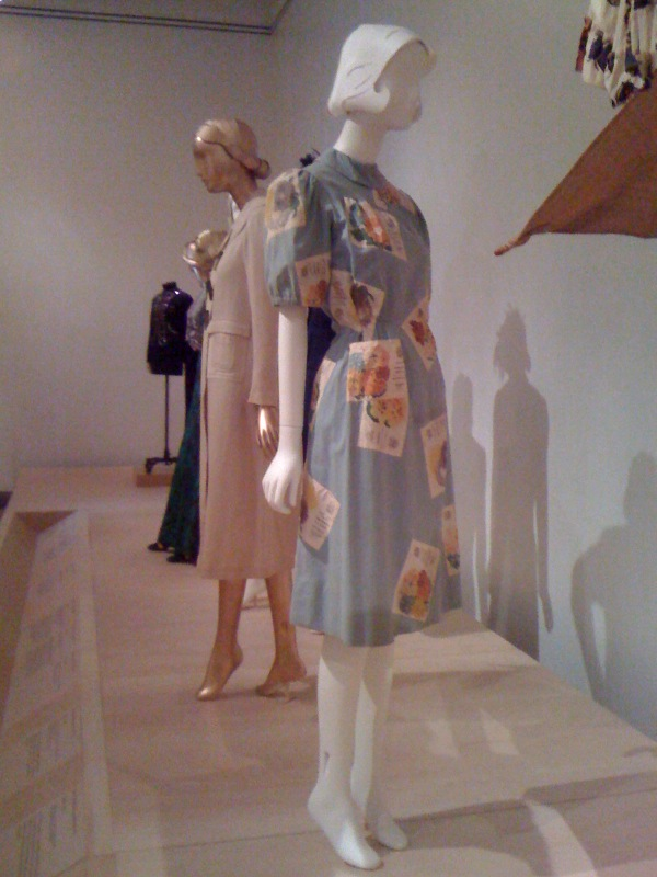 Schiaparelli_Dress (with seed packet appliques), 1939-41