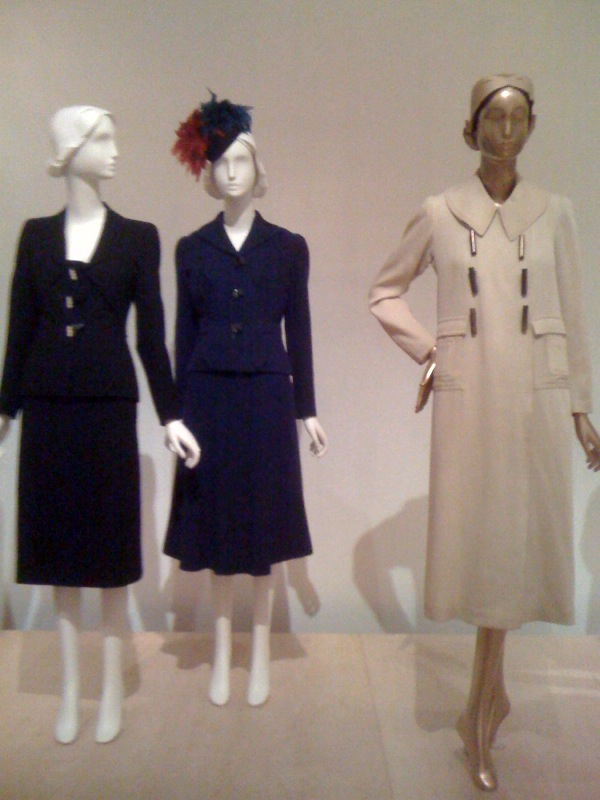 Schiaparelli_Suit, 1939, Suit, 1937, Hat, Winter 1936-7, Coat, 1932-5