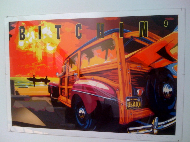 Jim Evans, Bitchin', poster collab with Robert Williams, nd