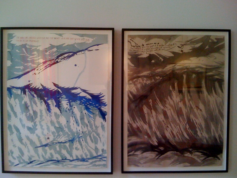 Raymond Pettibon, No Title (The walls are...), 1997, No Title (The Romance of it...the sport...), 1997