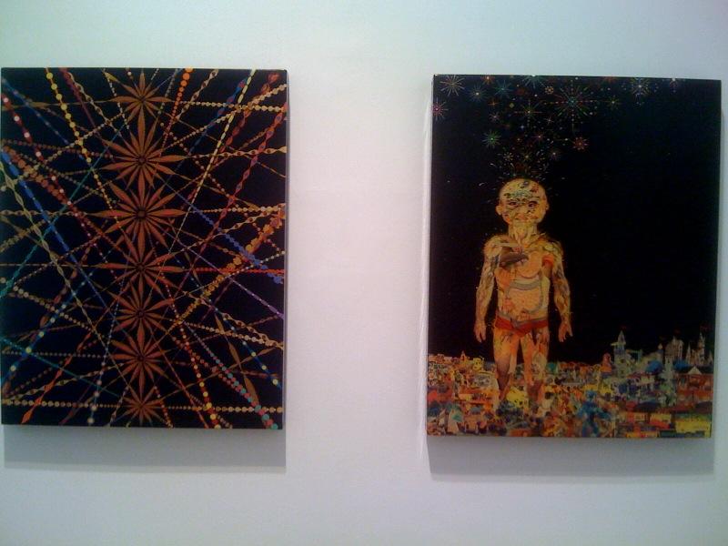 Fred Tomaselli, Radiating column, 2000, Toytopia, 2003