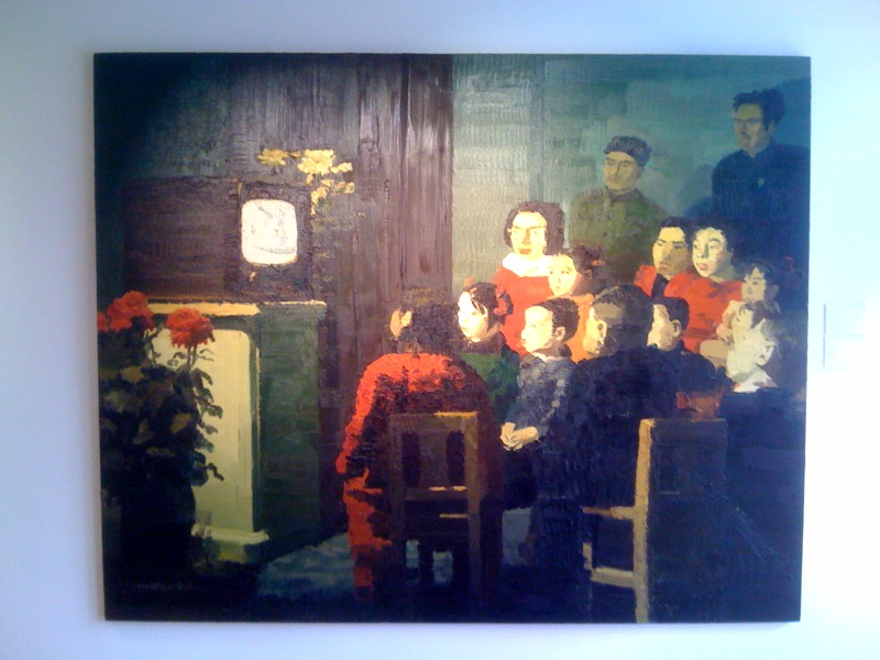 Qiu Xiaofei, Watching TV, 2004