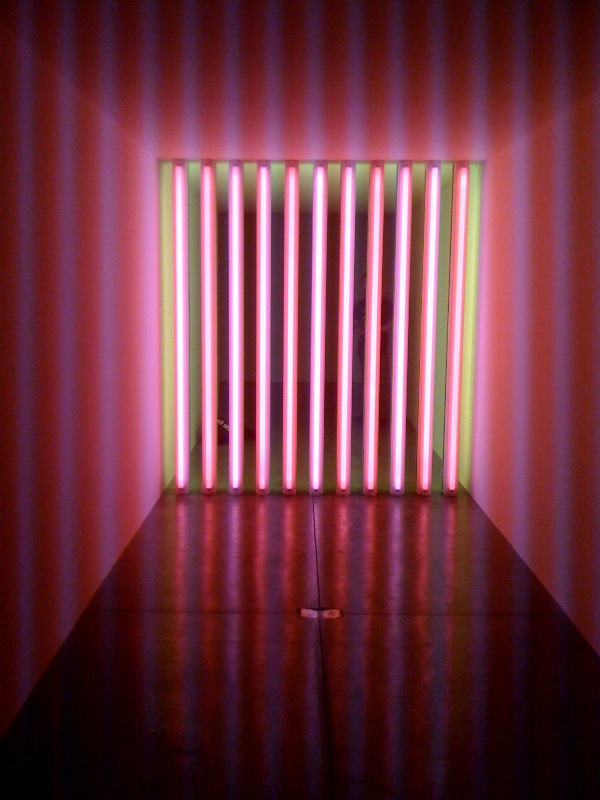 Untitled (to Barry, Mike, Chuck and Leonard), 1972-1975, pink side, far, C
