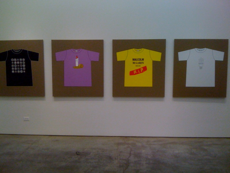Rob Pruitt's T-Shirt Collection_Snowflakes, Dan Colen, Malcolm McLaren, Jasper Johns, Green, 2010