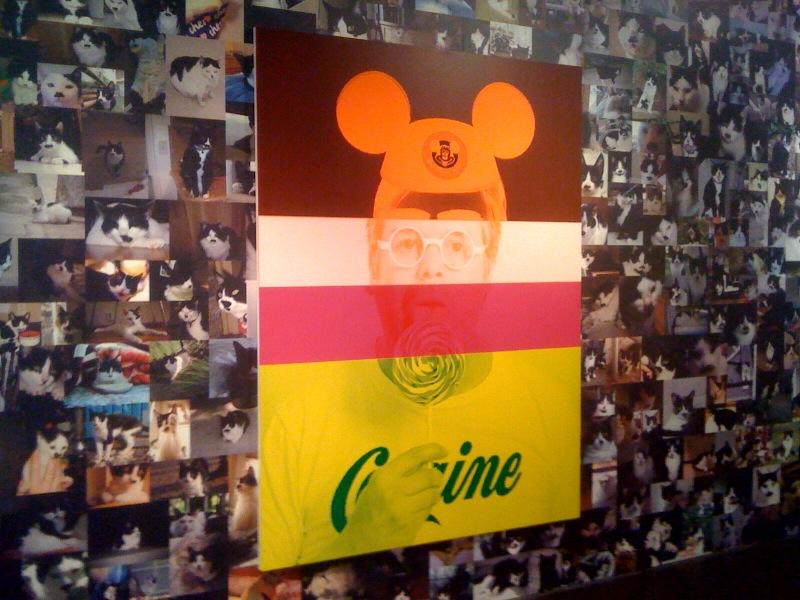 Exquisite Self-Portrait_Mickey Mouse,2010, tbc (wallpaper), 2010