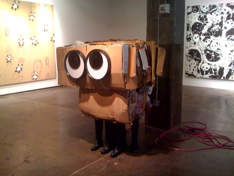 Panda Pattern, Cardboard Monster_Massimo, Panda Pattern_Lily Pulitzer Spring 2010, 2010