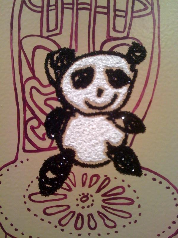 Panda Pattern_Rob Pruitt Pandas Sitting on Saul Steinberg Chairs, detail,2010