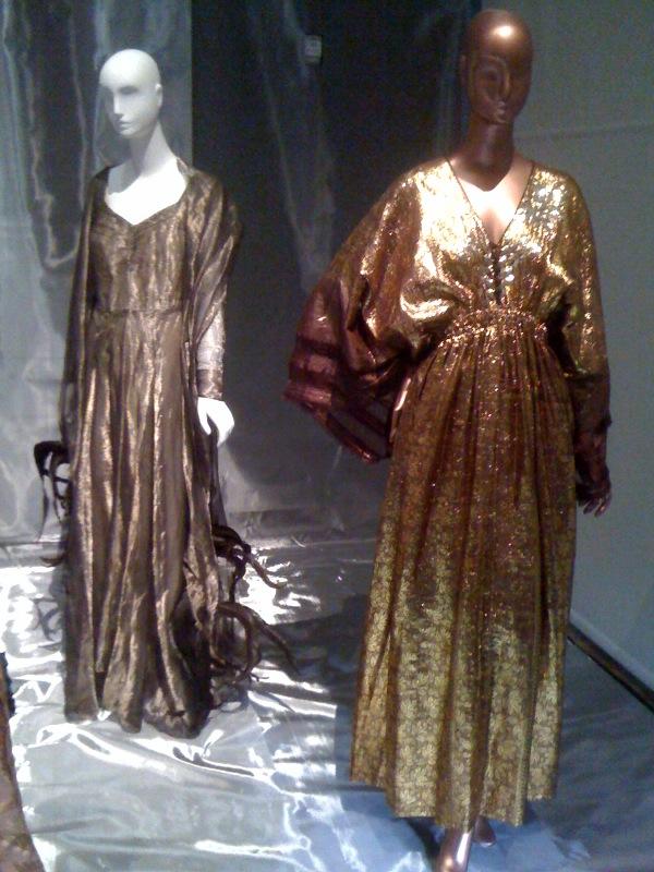 Marian Anderson, Schiaparelli evening:concert gown,1941, Rosamond Bernier, Zandra Rhodes evening dress, 1977-8