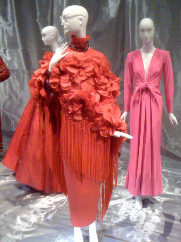 Iris Apfel, Pertegaz:Madrid shawl, Gianfranco Ferre skirt, 1970s-80s, Annette de la Renta, YSL evening dress, 1985