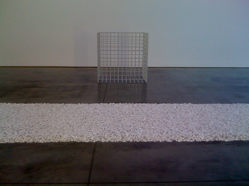 Richard Long, White Line, 1989, Sol LeWitt, Three Dimensional Modular Grid [Structure A5], 1968