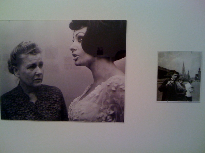 Yuri Shalamoff, Beauty and the Beast-Minister of Culture of the USSR Ekaterina Furtseva and Sofia Loren, Moscow, 1965:2010, Yves Montand and Simone Signoret in the Red Square, Moscow, 1956:2010