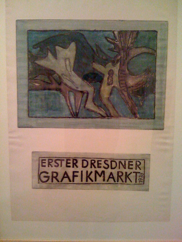 Veit Hofmann, First Dresden Print Fair, 1976, Etching, colored, 22:30