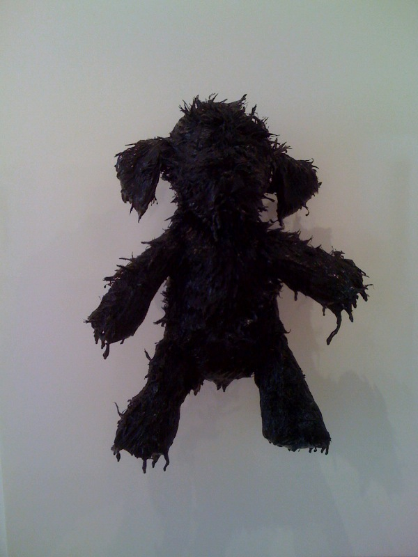 Shaggy Black Pup