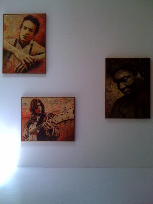 Joe Strummer, Neil Young, Muhammad Ali