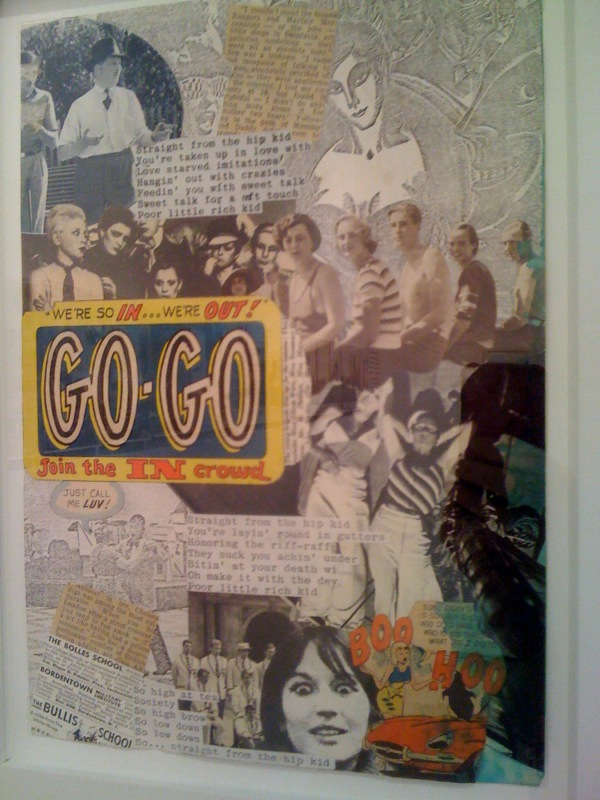 Go-Go, Jon Savage, photo montage, early 1977, 2