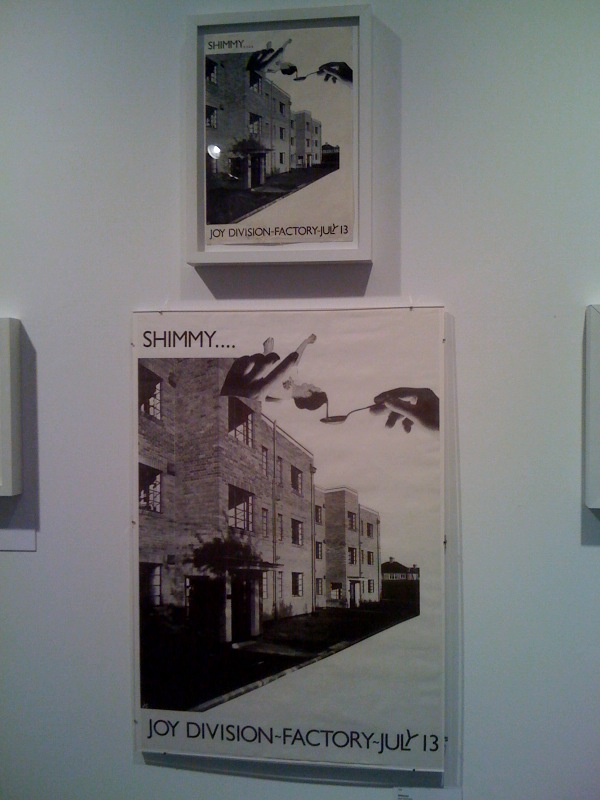 Shimmy, Jon Savage, photo montage, July 1979 and Shimmy (Joy Division poster), 1977, 2
