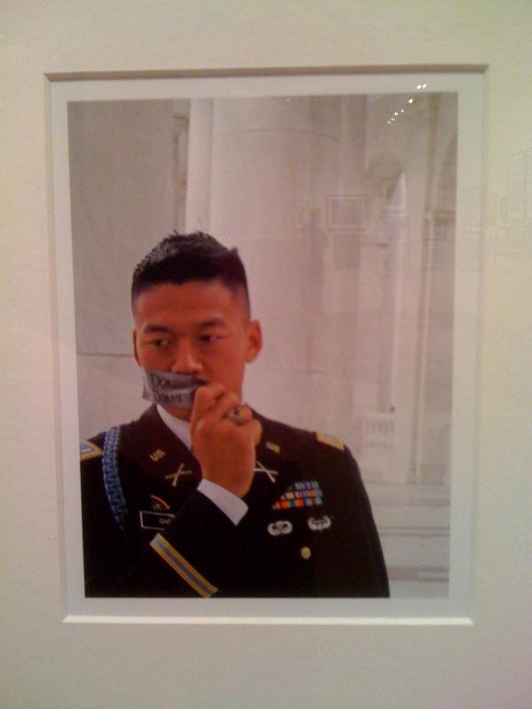 Thom Adams, Don't Ask Don't Tell Lt. Dan Choi, Arlington National Cemetary, Oct. 2009