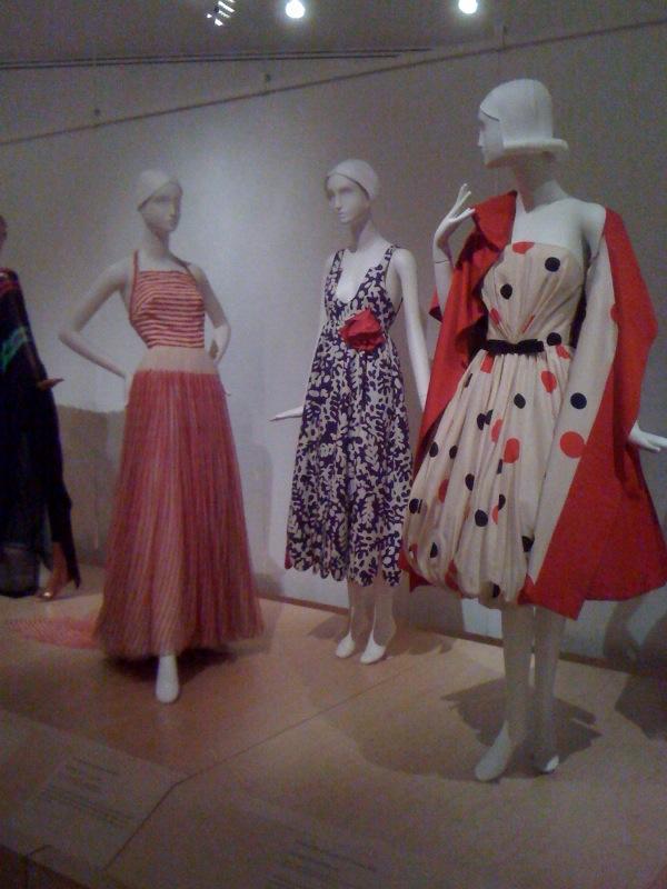 American Men_James Galanos, Evening Dress, 1955, Geoffrey Beene, Evening Dress, 1965, Arnold Scaasi, Evening Ensemble, 1961