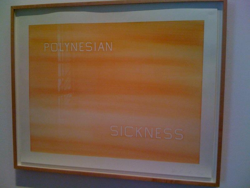 Ed Ruscha, Polynesian Sickness, 1984