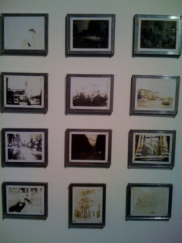 Gail Thacker, black and white polaroids, n.d.