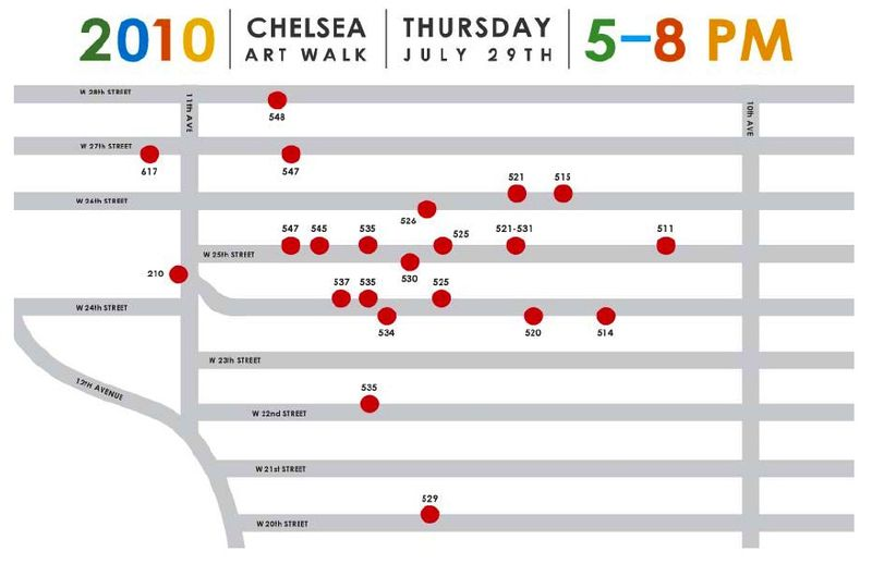 Chelsea Art Walk Map