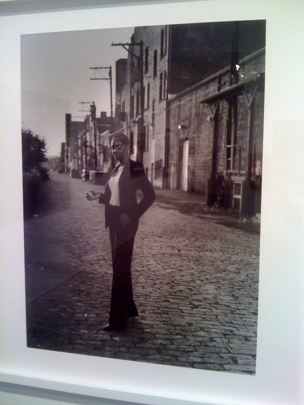 LaToya Ruby Frazier, Woodlawn Street, Braddock, 2010, Inspired by Helmut Newton, Le Smoking, Rue Aubriot, French Vogue, 1975