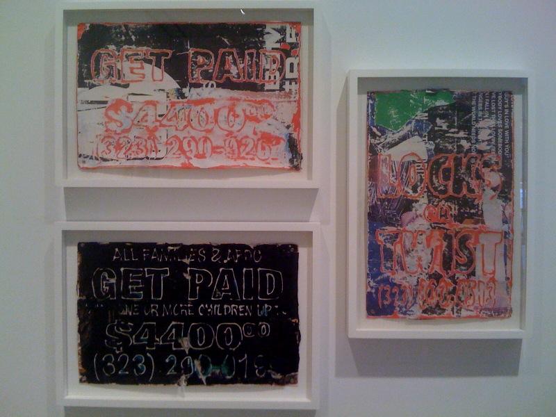 Mark Bradford, Untitled x3, 2007