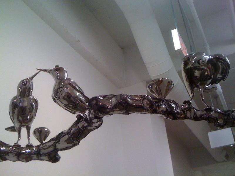 Rich Bird on the Branch, close up, 2010