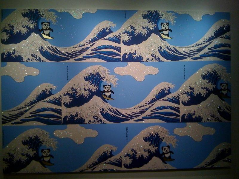 Panda Pattern_Riding The Great Wave, 2010