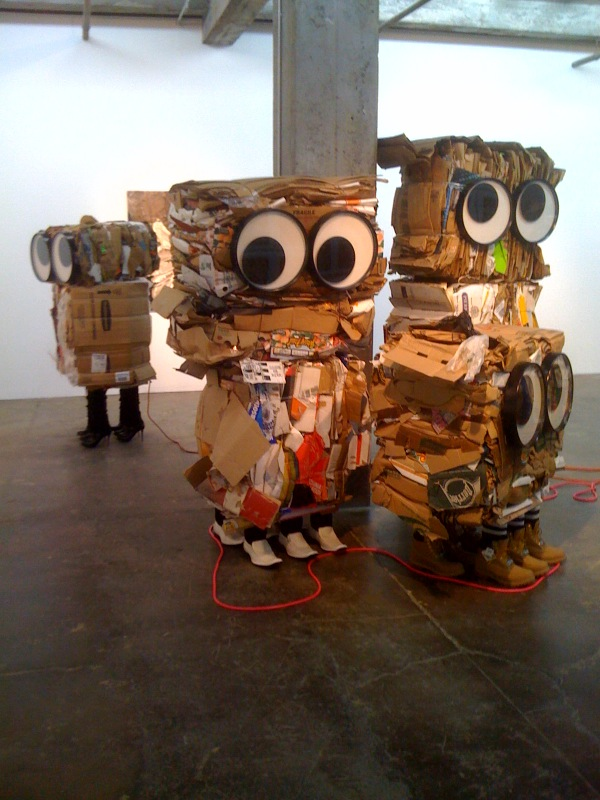 Cardboard Monsters_Piotr, Gavin, Allison, 2010