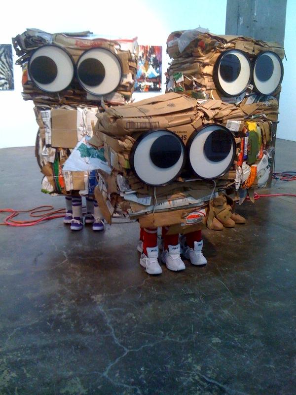 Cardboard Monsters_Michele, Marysia, Corinna, 2010