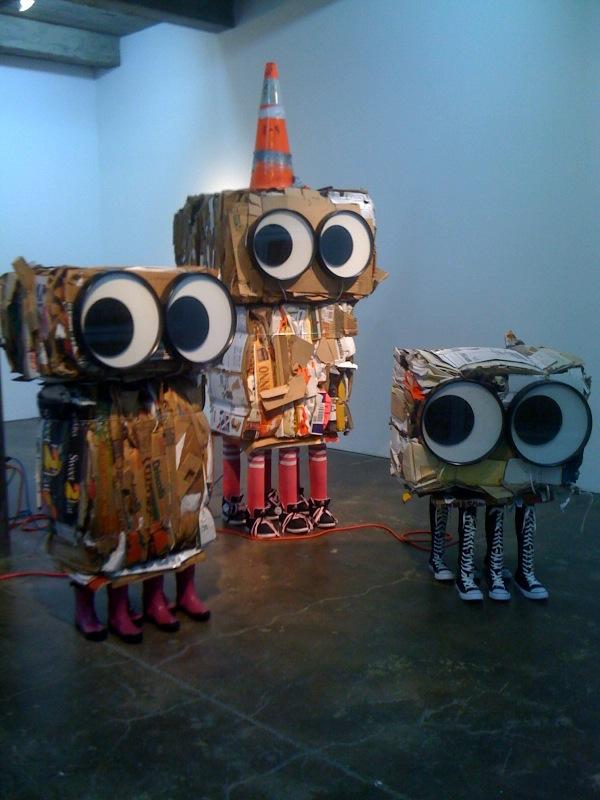 Cardboard Monsters_Rosie, Jonathan, Tallulah, 2010