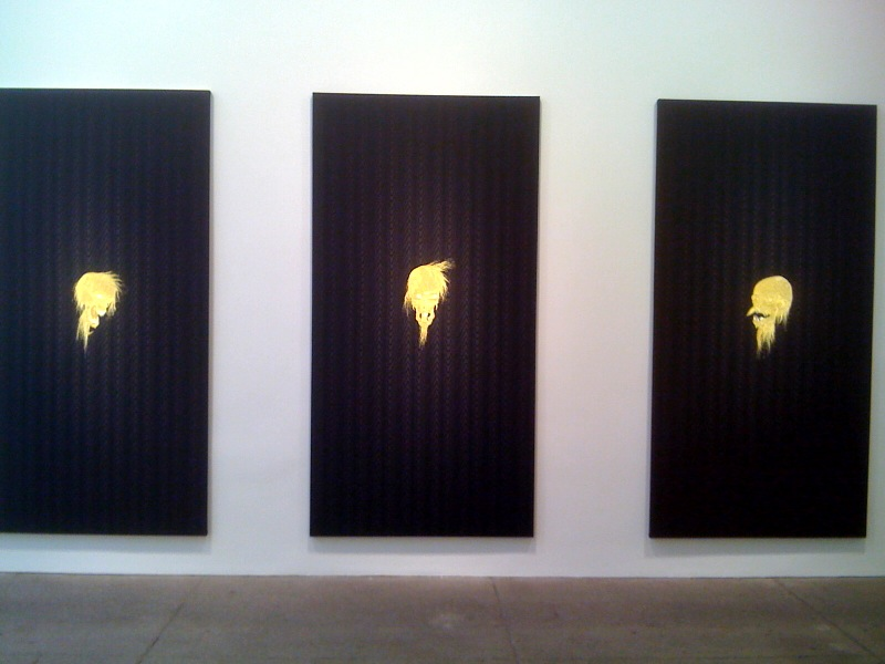 Laughing Philosopher (facing right), (frontal), (facing left), 2010