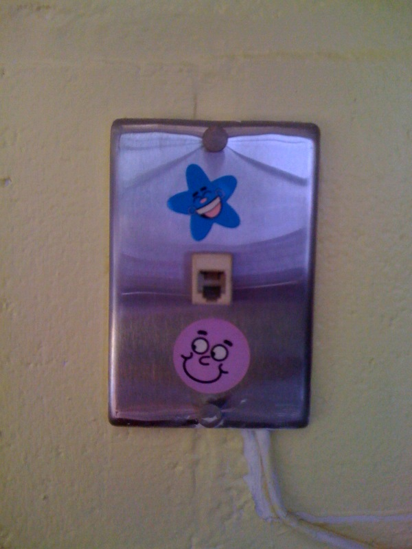 Smiley face phone jack