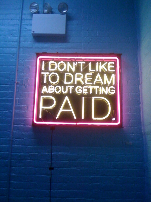 Patrick Martinez, I Don't LIke to Dream About Getting Paid, 2010