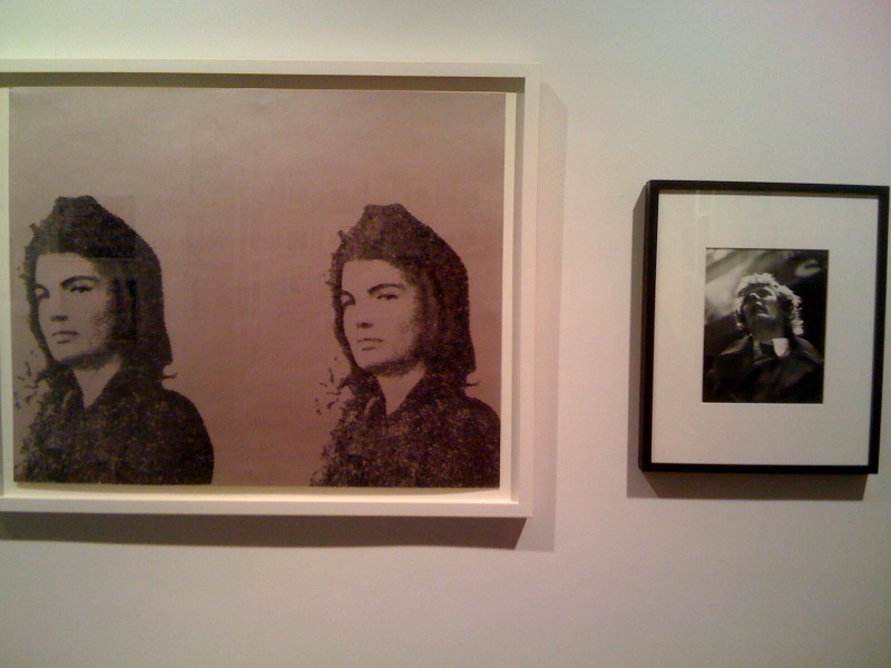 Andy Warhol, Jackie II, 1966, screenprint on paper, Gretchen Berg, Paul Morrissey at Max's Kansas City, 1971