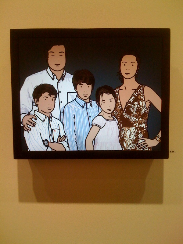 Julian Opie, The Ortega Family, 2008