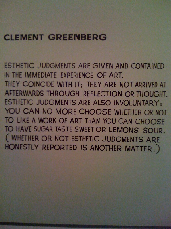 Clement Greenberg, 1966-68