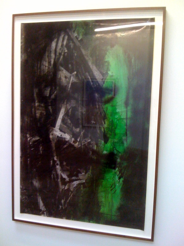 Untitled, 2010, green face